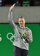 ANGELIQUE KERBER (GER), Olympiade 2016, Siegerehrung, Praesentation, Silber Medaille<br /> <br /> Tennis - Olympic Games 2016 - ITF  -   Olympic Tennis Centre - Rio De Janeiro -  - Brasilien  - 13 August 2016.
