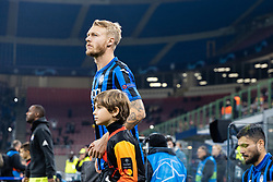 November 26, 2019, Milano, Italy: simon kjaer (atalanta)during Tournament round - Atalanta vs Dinamo Zagreb , Soccer Champions League Men Championship in Milano, Italy, November 26 2019 - LPS/Francesco Scaccianoce (Credit Image: © Francesco Scaccianoce/LPS via ZUMA Wire)