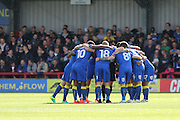 AFC Wimbledon during the EFL Sky Bet League 1 match between AFC Wimbledon and Gillingham at the Cherry Red Records Stadium, Kingston, England on 1 October 2016. Photo by Stuart Butcher.