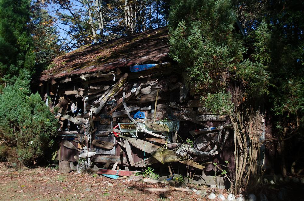 Driftwood Cabin, Wallace Island, Gulf Islands National Park Reserve, British Columbia, Canada