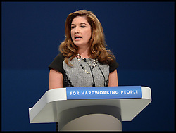 Karren Brady introducing the  Chancellor of the Exchequer George Osborne's speech at the Conservative Party Conference in Manchester, United Kingdom.  Monday, 30th September 2013. Picture by Andrew Parsons / i-Images