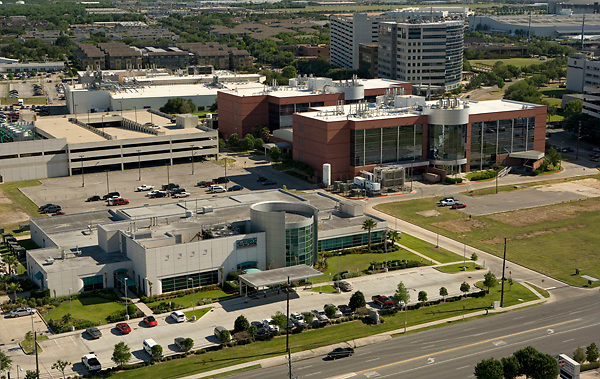 Aerial view of the Texas Medical Center - MD Anderson Proton Therapy Center in Houston, Texas.