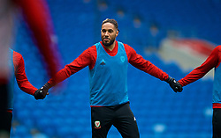 CARDIFF, WALES - Thursday, November 15, 2018: Wales' captain Ashley Williams during a training session at the Cardiff City Stadium ahead of the UEFA Nations League Group Stage League B Group 4 match between Wales and Denmark. (Pic by David Rawcliffe/Propaganda)
