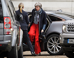 © Licensed to London News Pictures. 03/01/2019. London, UK. British Prime Minister THERESA MAY is seen returning to Downing Street flowing Christmas break. Photo credit: Ben Cawthra/LNP