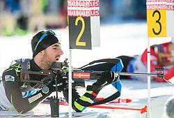 BEATRIX Jean Guillaume (FRA) during Men 10 km Sprint at day 2 of IBU Biathlon World Cup 2014/2015 Pokljuka, on December 19, 2014 in Rudno polje, Pokljuka, Slovenia. Photo by Vid Ponikvar / Sportida