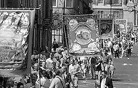 Barnsley Area Road Transport Branch banner. 1992 Yorkshire Miners Gala, Barnsley.