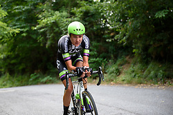 Eyes on the road: Carlee Taylor takes the climb in her stride at Giro Rosa 2016 - Stage 7. A 21.9 km individual time trial from Albisola to Varazze, Italy on July 8th 2016.