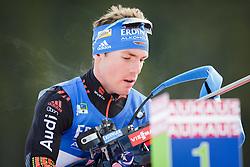 Simon Schempp (GER) during Men 10 km Sprint of the IBU Biathlon World Cup Pokljuka on Thursday, December 16, 2015 in Pokljuka, Slovenia. Photo by Ziga Zupan / Sportida