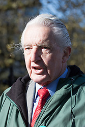 "St Thomas' Hospital, London, April 26th 2016. Labour MP Dennis Skinner, recently ejected from Parliament for referring to the Prime Minister David Cameron as ""Dodgy Dave"", lends his support to Junior doctors picketing St Thomas' hospital as they strike again against new contracts imposed on them by the Department of Health. ©Paul Davey<br /> FOR LICENCING CONTACT: Paul Davey +44 (0) 7966 016 296 paul@pauldaveycreative.co.uk"