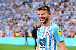 Free to use courtesy of Sky Bet. Chris Stokes of Coventry City celebrates after Coventry get promoted into Sky Bet League One after beating Exeter City 3-1  - Mandatory by-line: Dougie Allward/JMP - 28/05/2018 - FOOTBALL - Wembley Stadium - London, England - Coventry City v Exeter City - Sky Bet League Two Play-off Final