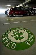 Reserved parking for hybrid vehicles (Leed points) for the Irby Building, Ballantyne Corporate Park in Charlotte, NC