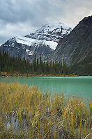 Mount Edith Cavell from Cavell Lake, Jasper National Park Alberta