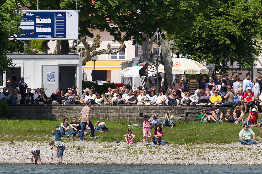 Crowds on the foreshore at Match Race Germany 2010. World Match Racing Tour. Langenargen, Germany. 22 May 2010. Photo: Gareth Cooke/Subzero Images/WMRT