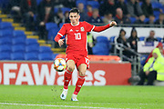 Wales midfielder Harry Wilson during the Friendly match between Wales and Belarus at the Cardiff City Stadium, Cardiff, Wales on 9 September 2019.