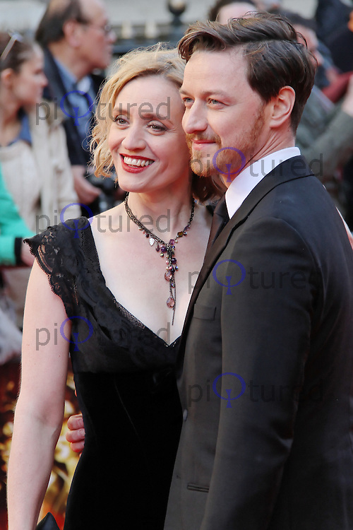 LONDON - APRIL 15:  Anne-Marie Duff; James McAvoy attend The Olivier Awards 2012 at the Royal Opera House, Covent Garden, London, UK. April 15, 2012. (Photo by Richard Goldschmidt)