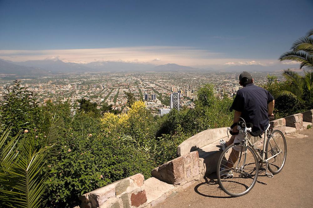 View from Cerro San Cristobal, Santiago, Chile