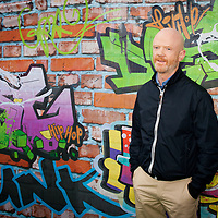 Portrait of Jimmy Somerville taken backstage.<br />
