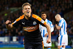 Matt Ritchie of Newcastle United celebrates after scoring his sides first goal  - Mandatory by-line: Matt McNulty/JMP - 04/03/2017 - FOOTBALL - The John Smith's Stadium - Huddersfield, England - Huddersfield Town v Newcastle United - Sky Bet Championship