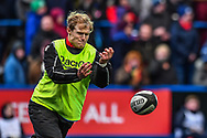 Scarlets' Aled Davies during the pre match warm up - Mandatory by-line: Craig Thomas/Replay images - 31/12/2017 - RUGBY - Cardiff Arms Park - Cardiff , Wales - Blues v Scarlets - Guinness Pro 14
