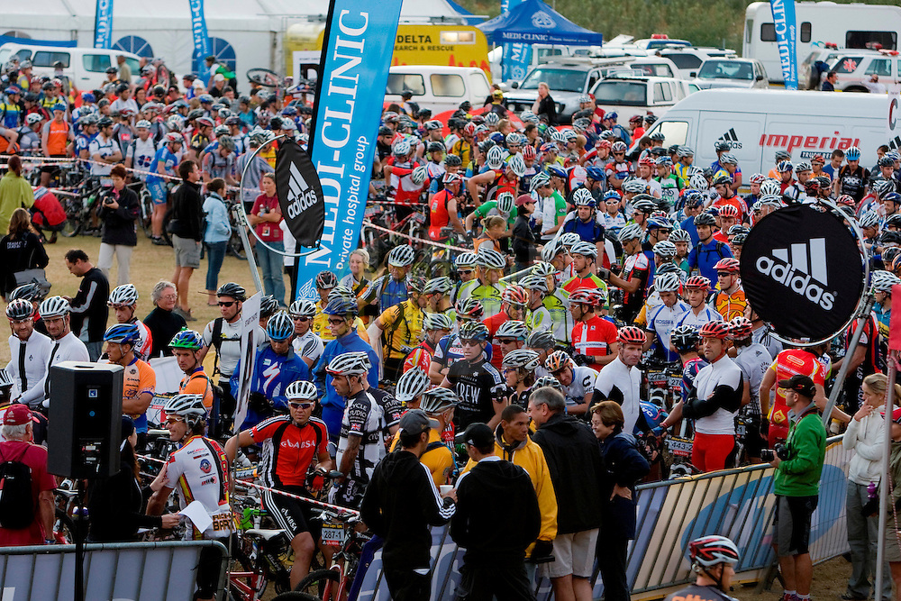VILLIERSDORP, SOUTH AFRICA - The start chute during stage two , 2 , of the Absa Cape Epic Mountain Bike Stage Race held in Villiersdorp on the 23 March 2009 in the Western Cape, South Africa..Photo by Nick Muzik  /SPORTZPICS