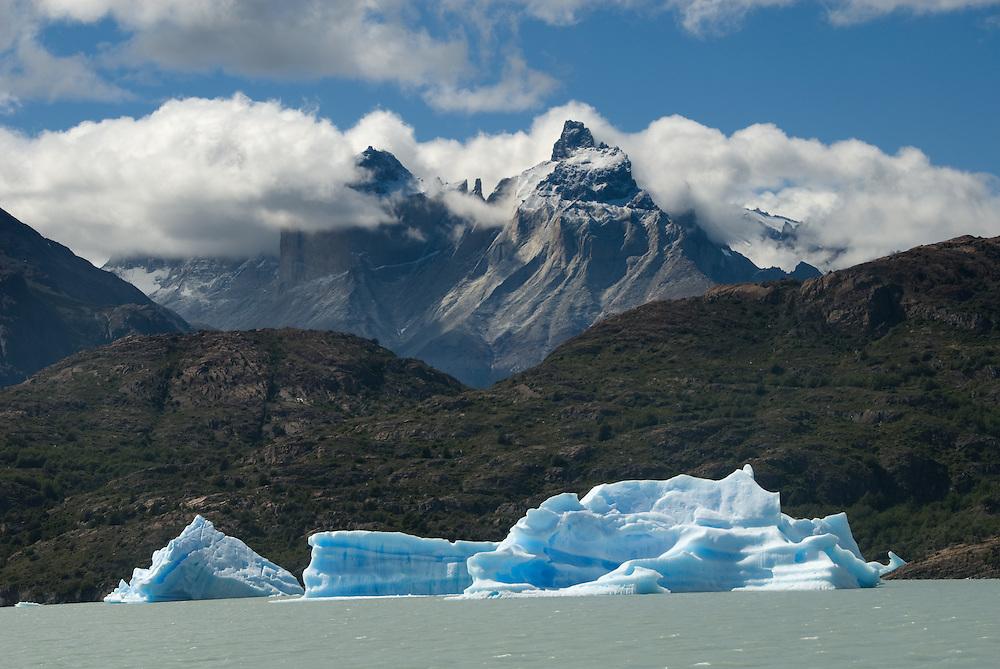 Icebergs on Lago Grey