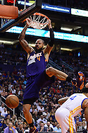 Feb 10, 2016; Phoenix, AZ, USA; Phoenix Suns center Tyson Chandler (4) dunks the ball against the Golden State Warriors at Talking Stick Resort Arena. Mandatory Credit: Jennifer Stewart-USA TODAY Sports