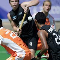 MELBOURNE - Champions Trophy men 2012<br /> Netherlands v New Zealand<br /> Nederland naar de halve finale<br /> foto: Valentin Verga backhand.<br /> FFU PRESS AGENCY COPYRIGHT FRANK UIJLENBROEK