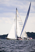 American Eagle and Heritage, 12 Meter Class sailing.