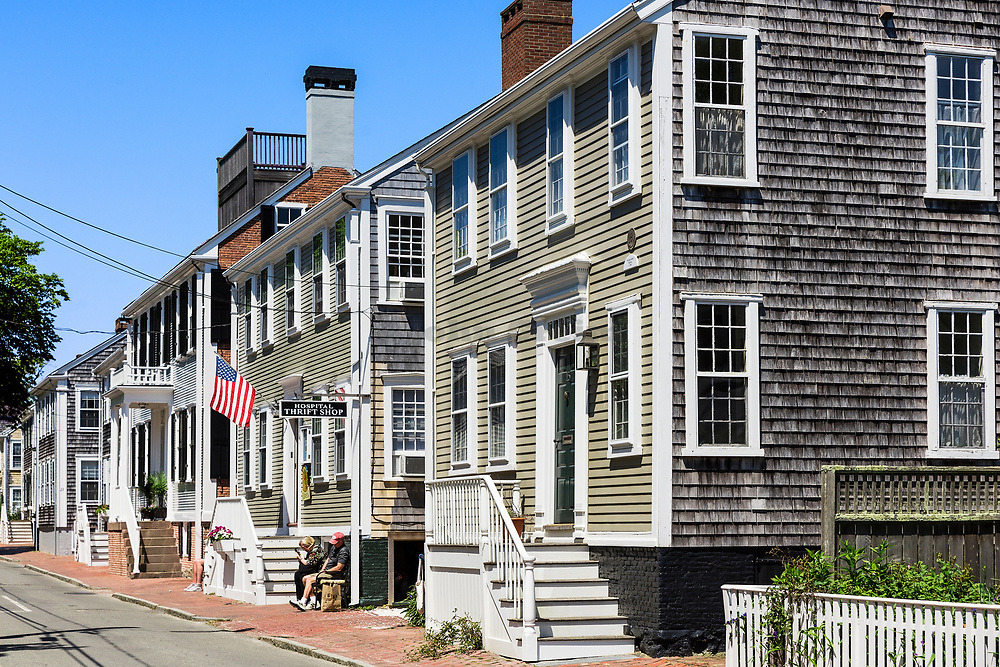Charming homes, Nantucket, Massachusetts, USA.