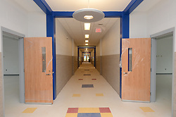 Hanover Elementary School - Kindergarten Addition<br /> James R Anderson Photographer | photog.com 203-281-0717<br /> Andrade Architects, LLC. Enfield Builders, Inc.<br /> Photography Date: 9 October 2012<br /> Camera View: Hallway looking South, 1/3 from North end.<br /> Image Number 14