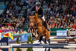 LINDELOEW Douglas (SWE), Casquo Blue<br /> Leipzig - Partner Pferd 2020<br /> Longines FEI Jumping World Cup™ presented by Sparkasse<br /> Sparkassen Cup - Großer Preis von Leipzig FEI Jumping World Cup™ Wertungsprüfung <br /> Springprüfung mit Stechen, international<br /> Höhe: 1.55 m<br /> 19. Januar 2020<br /> © www.sportfotos-lafrentz.de/Stefan Lafrentz