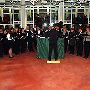 Nieuwjaarsreceptie gemeente Huizen 2002, optreden Moclassingers