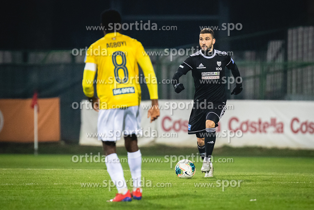 Nino Kouter of Mura during football match between NŠ Mura and NK Bravo in 20th Round of Prva liga Telekom Slovenije 2019/20, on December 5, 2019 in Fazanerija, Murska Sobota, Slovenia. Photo by Blaž Weindorfer / Sportida