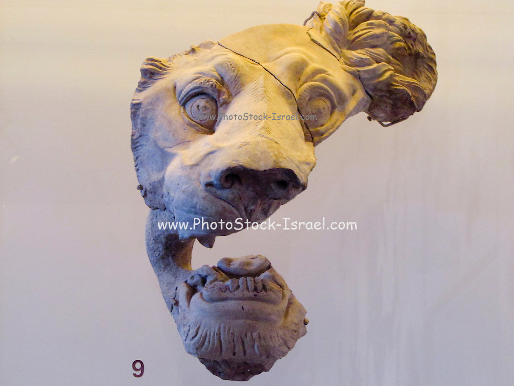 Italy, Rome, Lion's head at the palatine museum,