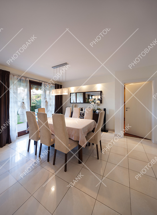 dining room of a modern apartment, dining table