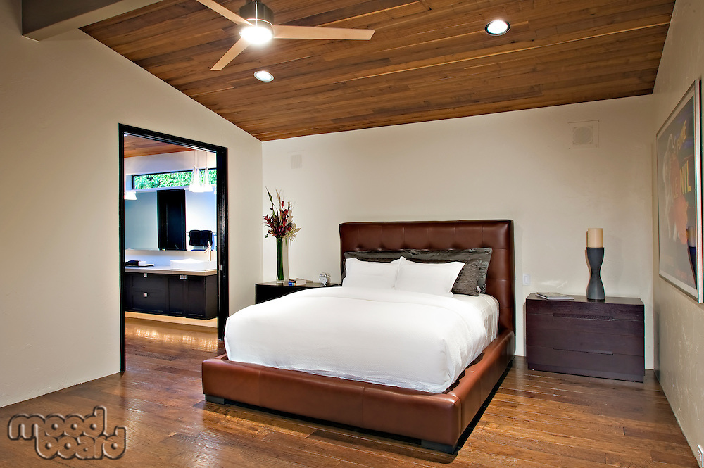 Bedroom in modern mansion