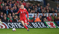 CARDIFF, WALES - Wednesday, April 1, 2009: Wales' David Cotterill in action against Germany during the 2010 FIFA World Cup Qualifying Group 4 match at the Millennium Stadium. (Pic by David Rawcliffe/Propaganda)