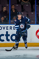 PENTICTON, CANADA - SEPTEMBER 9: Kristian Reichel #90 of Winnipeg Jets skates against the Edmonton Oilers on September 9, 2017 at the South Okanagan Event Centre in Penticton, British Columbia, Canada.  (Photo by Marissa Baecker/Shoot the Breeze)  *** Local Caption ***