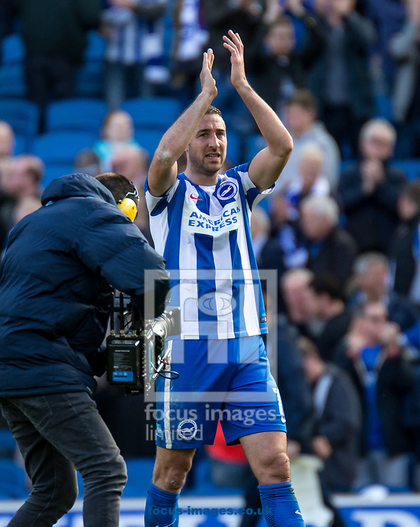 Glenn Murray of Brighton &amp; Hove Albion at the final whistle during the Sky Bet Championship match at the American Express Community Stadium, Brighton and Hove<br /> Picture by Liam McAvoy/Focus Images Ltd 07413 543156<br /> 01/04/2017