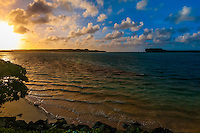 Sunrise, Mouli, Island of Ouvea, Loyalty Islands, New Caledonia