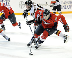 Taylor Hall of the Windsor Spitfires in Game 4 of the 2010 MasterCard Memorial Cup in Brandon, MB on Monday May 17. Photo by Aaron Bell/CHL Images