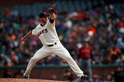 SAN FRANCISCO, CA - MAY 26: Sam Coonrod #65 of the San Francisco Giants pitches against the Arizona Diamondbacks in his Major League debut during the eighth inning at Oracle Park on May 26, 2019 in San Francisco, California. The Arizona Diamondbacks defeated the San Francisco Giants 6-2. (Photo by Jason O. Watson/Getty Images) *** Local Caption *** Sam Coonrod