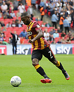 Bradford City Mark Marshall during the Sky Bet League 1 play-off final at Wembley Stadium, London<br /> Picture by Glenn Sparkes/Focus Images Ltd 07939664067<br /> 20/05/2017