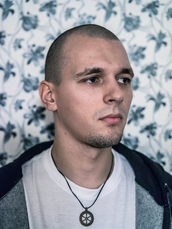 Vadzim Zharomski, who was arrested for spraypainting graffiti and charged with hooliganism, poses for a portrait on Monday, November 23, 2015 in Minsk, Belarus.