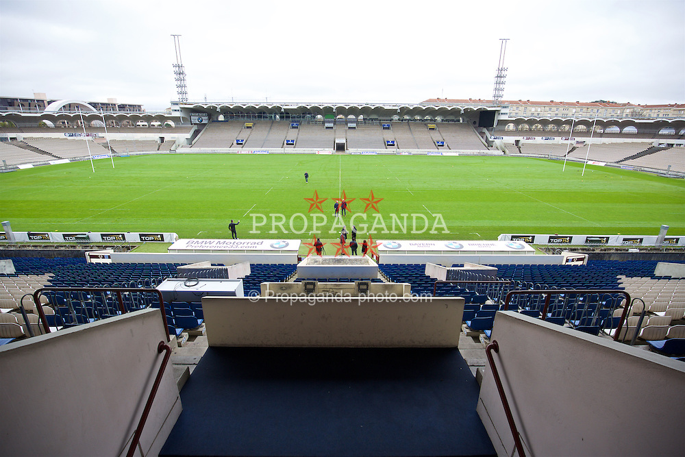 BORDEAUX, FRANCE - Tuesday, January 26, 2016: The Stade Chaban Delmas during Wales inspection visit ahead of the UEFA Euro 2016 Tournament. (Pic by David Rawcliffe/Propaganda)