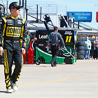 November 02, 2018 - Ft. Worth, Texas, USA: John Hunter Nemechek (42) hangs out in the garage during practice for the O'Reilly Auto Parts Challenge at Texas Motor Speedway in Ft. Worth, Texas.