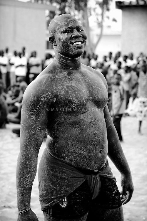 Training session at the Balla Gaye wrestling school. Balla Gaye was the old champion, Balla Gaye 2, his son, is the current champion.