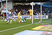 Millwall's Tony Craig(5) shoots at goal scores a goal 0-2 during the EFL Sky Bet League 1 match between Bristol Rovers and Millwall at the Memorial Stadium, Bristol, England on 30 April 2017. Photo by Shane Healey.