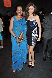 Left to right, KAMEL HOTHI Asian markets director for Lloyds TSB and KANIKA CHANDOK Indian muse of Pucci, Socialite and Musician at a gala evening in aid of Ubuntu Education Fund held at Battersea Power Station, London on 4th May 2011.