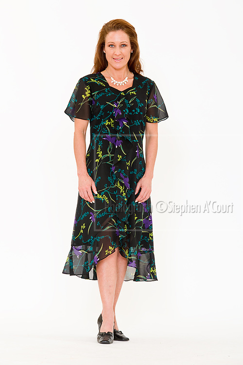 Ruffles and More Georgette Dress. Photo credit: Stephen A'Court.  COPYRIGHT ©Stephen A'Court